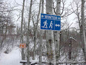 Mystery clouds Minnedosa trail signs - Brandon Sun