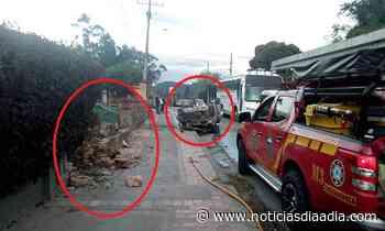 Sin consecuencias graves accidente vía Tabio - Cajicá,... - Noticias Día a Día