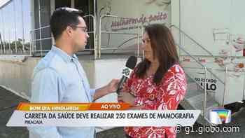 Piracaia recebe carreta para exames de mamografia até sexta-feira (20) - G1