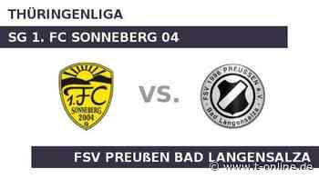 SG 1. FC Sonneberg 04 gegen FSV Preußen Bad Langensalza: 1. FC Sonneberg möchte nachlegen - t-online.de
