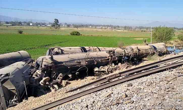 Se descarrila tren cargado de combustible entre Tula y Atitalaquia - Uno TV Noticias