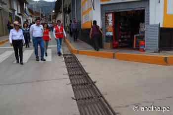 Cajamarca: inauguran calles reconstruidas con sistemas de drenaje pluvial en Cajabamba - Agencia Andina