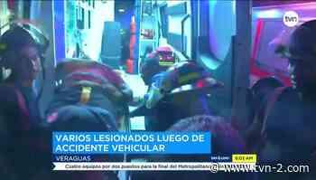 Cuatro heridos por colisión y vuelco en Santiago de Veraguas - TVN Panamá