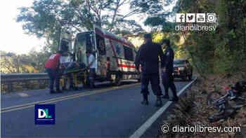 Motociclista sufre accidente de tránsito en Sensuntepeque y es enviado al hospital - Diario Libre