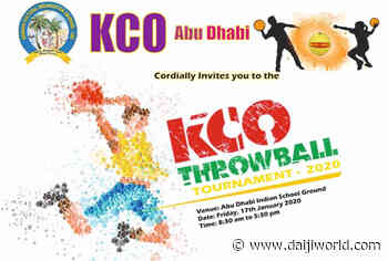 Abu Dhabi: KCO to organize throwball tourney on Jan 17 - Daijiworld.com