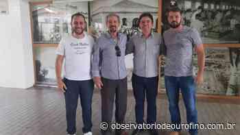 Prefeito de Juruaia visita Ouro Fino e confere obras da atual gestão - Observatório de Ouro Fino