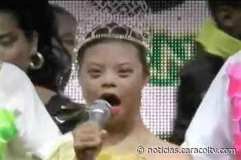 Vanessa Sanez, con síndrome de Down, fue coronada reina de Ovejas - Noticias Caracol