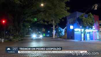 Tremor de terra é registrado em Pedro Leopoldo, na Grande BH - G1
