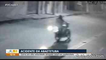 Câmeras registram atropelamento de casal em motocicleta em Abaetetuba - G1