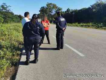 Mujer pretendía llegar caminando a Cardenas Tabasco - Meganews