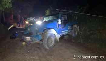 Dos personas muertas deja accidente de tránsito en zona rural de Aguadas - Caracol Radio