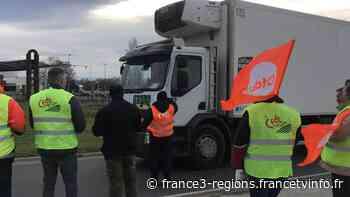 Puy-de-Dôme : barrage filtrant organisé à Gerzat par des chauffeurs routiers - France 3 Régions