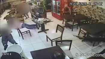 Vídeo mostra criminoso atirando em pessoas dentro de lanchonete em Boituva - G1