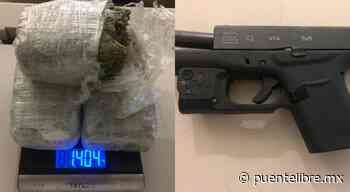 Detienen a sujeto armado y con marihuana en Pradera Dorada - Puente Libre La Noticia Digital
