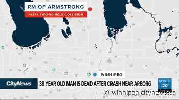38-year-old man is dead after crash near Arborg - CityNews Winnipeg