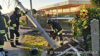 Gru abbatte palo della ferrovia Linea bloccata - Il Giornale di Vicenza