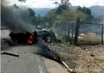 Vehículo cargado con explosivos estalló en Cubará, Boyacá; hay tres heridos - RED+ Noticias