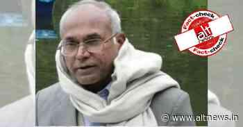 Photo of Dalit activist Kancha Ilaiah shared as elderly student at JNU - Alt News