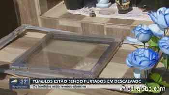 Cerca de 30 túmulos têm estrutura de alumínio furtada em Descalvado, segundo famílias - G1
