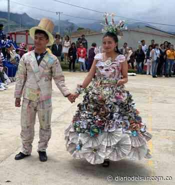 Niños deleitaron con sus trajes ecológicos en Yacuanquer - Diario del Sur