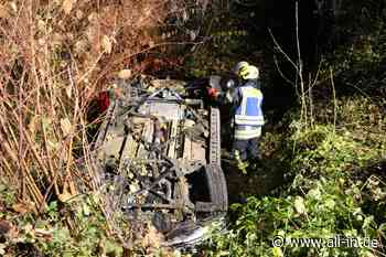 Betrunken am Steuer: Auto landet in Bach bei Scheidegg auf dem Dach - Drei Verletzte - Scheidegg - all-in.de - Das Allgäu Online!
