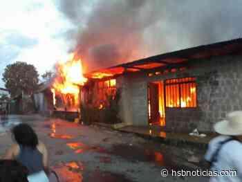 Incendio consumió dos casas en el municipio de Curillo, Caquetá | HSB Noticias - HSB Noticias