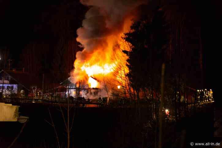 Feuer: Wohnhaus in Weitnau komplett abgebrannt - Weitnau (VG Weitnau) - all-in.de - Das Allgäu Online!