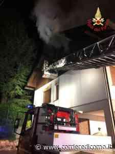 Alzate Brianza, a fuoco una mansarda - Corriere di Como