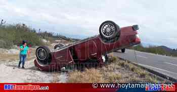 Volcadura deja cinco personas lesionadas en Tula, Tamaulipas - Hoy Tamaulipas