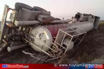 Vuelca pipa cargada con acido fluorhidrico en Tula Tamaulipas - Hoy Tamaulipas