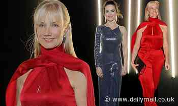Joely Richardson and Hayley Atwell attend pre-BAFTA dinner - Daily Mail