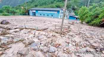Huaico sepulta casa de máquinas de hidroeléctrica La Atuyunga en Celendín - LaRepública.pe