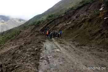 Colapsa vía de acceso a centro poblado en Pomabamba por deslizamientos - Agencia Andina