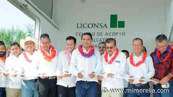Inaugura gobernador centro de acopio de leche en Tepalcatepec, Michoacán - MiMorelia.com