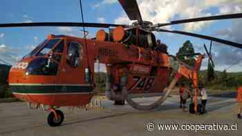 Helicóptero Sokorski Goliath salió desde Curepto para combatir fuego en Valparaiso - Cooperativa.cl