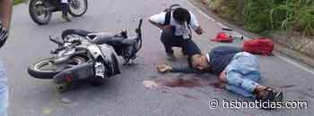 Tres heridos tras fuerte choque de dos motos en El Paujil-Cartagena del Chairá   HSB Noticias - HSB Noticias