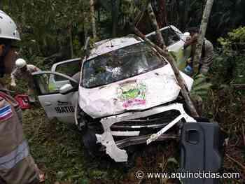 Acidente com carro da Saúde de Ibatiba mata paciente na BR 262 em Brejetuba - www.aquinoticias.com