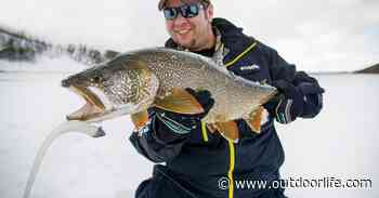 Use Big Baits to Catch Giant Lake Trout Through The Ice - Outdoor Life