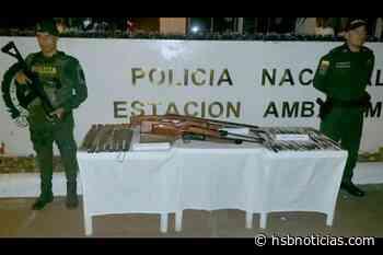 """En Ambalema se realizó campaña de plan desarme denominada """"Más vidas menos armas""""   HSB Noticias - HSB Noticias"""