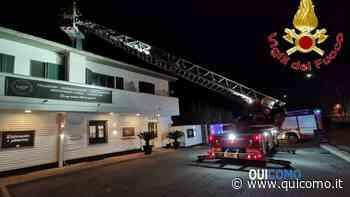 Incendio in serata a Novedrate nell'edificio della pizzeria Corner 23 - QuiComo