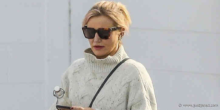Cameron Diaz Sports Bandage On Her Hand After Welcoming Baby Raddix