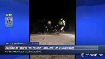 Cusco: Accidente dejó 15 personas heridas en carretera hacia Sicuani - Canal N