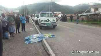 Mujer muere tras ser atropellada por vehículo en vía Sicuani- Cusco - LaRepública.pe