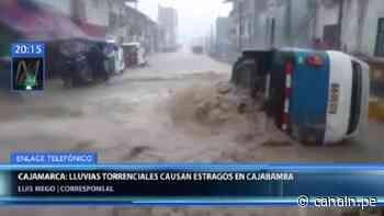 Cajamarca: Lluvias torrenciales inundan calles de la provincia de Cajabamba - Canal N