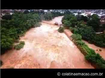 Imagens da cheia do Rio Guandu, em Baixo Guandu na tarde desse domingo(26) - Colatina em Ação