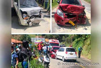 Choque múltiple en la vía que conduce a Guatapé deja seis heridos - Noticias Caracol