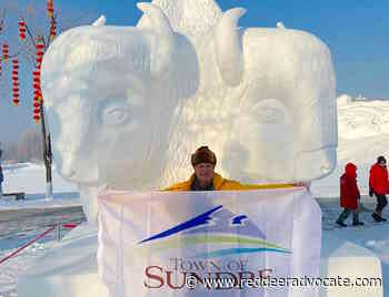 Sundre artist returns from China with snow sculpting award (and no virus) - Red Deer Advocate