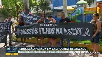 Pais cobram da prefeitura de Cachoeiras de Macacu, RJ, solução para a greve da Educação diante da volta às aulas - G1