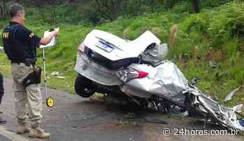 Carro bate em caminhão e grávida morre na BR-373 em Imbituva, no Paraná - 24Horas