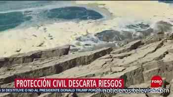 Descartan riesgo tras hundimiento de playa en Puerto Escondido, Oaxaca - Noticieros Televisa